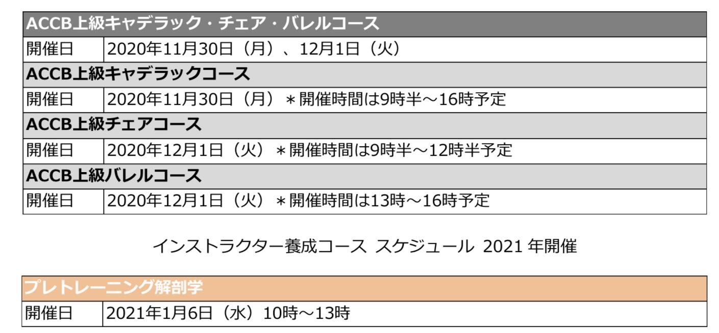 ☆11月・12月のACCB(上級キャデラック・チェア・バレル )コース☆